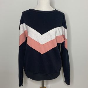 A&F Chevron Pullover Sweater Size Large